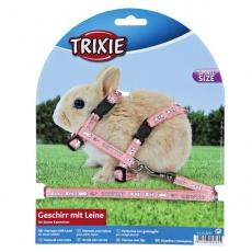 Geschirr mit Leine für zwergwüchsige Kaninchen - pink