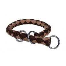 Würgehalsband für Hunde, braun - M, 39 - 45 cm