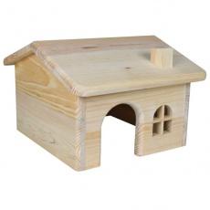 Häuschen für Nager, diagonales Dach - klein