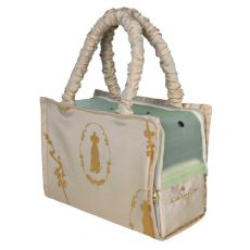 Hundetasche King of Dogs - beige, 36 x 26 x 17 cm