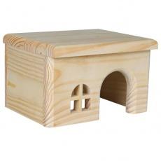 Häuschen für Nager, flaches Dach - mittelgroß