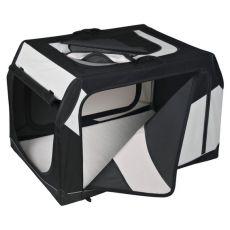 Transportbox für Hunde mit Metallrahmen - 91 × 58 × 61 cm