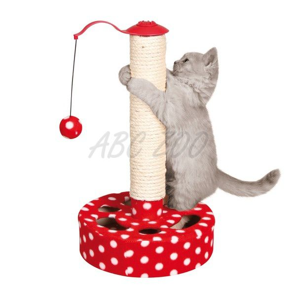 kratzeisen f r katzen mit einem spielzeug abc zoo. Black Bedroom Furniture Sets. Home Design Ideas