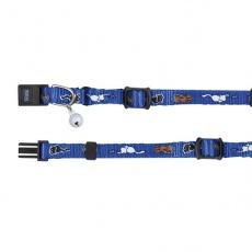 Halsband für Katzen mit einem Motiv, blau - 15 - 20 cm