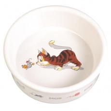 Katzennapf mit einem Motiv, keramischer - 0,2l