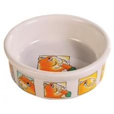 Napf für Meerschweinchen, aus Keramik mit Bildchen - 240 ml