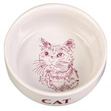Katzennapf, keramischer mit einem Bildchen - 0,3l