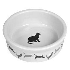 Keramischer Napf für Katzen mit einem Motiv - 250 ml