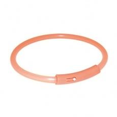 Halsband für Hunde - blinkend, orange, M