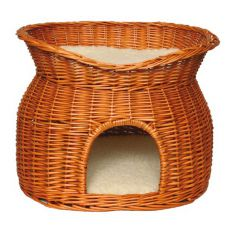 Hundehaus / Katzenhaus aus Rattan - Höhle