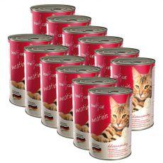Nassfutter BEWI CAT Meatinis GEFLÜGEL 12 x 400 g