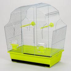 Käfig für Papagei MARGOT II chrom - 50,5 x 28 x 54 cm