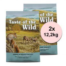 TASTE OF THE WILD Appalachian Valley 2 x 12,2 kg