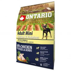 ONTARIO Adult Mini - chicken and potatoes 2,25kg