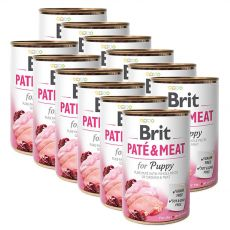 Feuchtnahrung Brit Paté & Meat PUPPY, 12 x 400 g