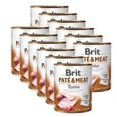 Nassfutter Brit Paté & Meat Rabbit, 12 x 800 g