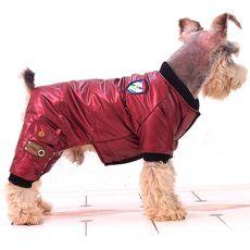Hundeoverall ohne Kapuze - bordorot, XS