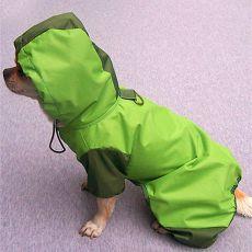 Regenmantel für Hunde - grün, XS