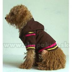 Sweatshirt mit Kapuze für Hunde - braun, XS