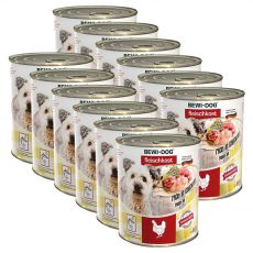 New BEWI DOG Nassfutter – Chicken, 12 x 800g