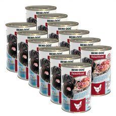 New BEWI DOG Feuchtnahrung – Geflügelherzen, 12 x 400 g