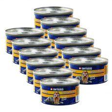 Feuchtnahrung ONTARIO Adult für Hunde, Huhn + Mägen, 12 x 200g