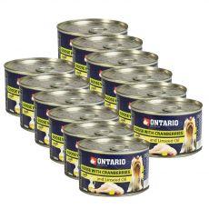 Feuchtnahrung ONTARIO Gans mit Preiselbeeren und Leinsamenöl 12 x 200g