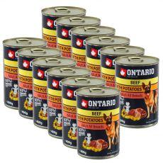 Dose ONTARIO für Hunde, Rind, Kartoffeln und Öl - 12 x 400g