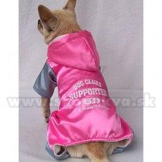 Sportlicher Overall für Hunde - pinkgrau, L