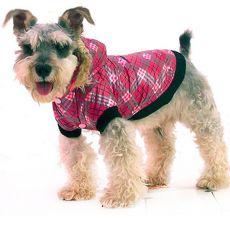Jacke für Hunde - kariert, pink, XXL