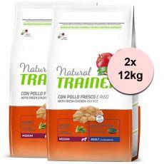 Trainer Natural Adult Medium, Huhn und Reis  2 x 12kg