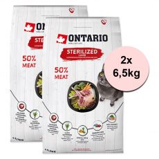Ontario Cat Sterilised Lamb 2 x 6,5 kg