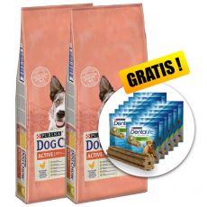 PURINA DOG CHOW Active 2 x 14 kg+ GESCHENK