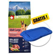 ONTARIO Adult Large Beef & Rice 12kg  + GESCHENK