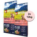 ONTARIO Adult Large - lamb & rice 2 x 12kg