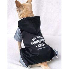 Sportlicher Hundeoverall - grauschwarz, M