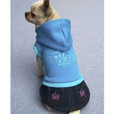 Sweatshirt mit Jeansrock für Hunde - blau, XL