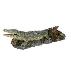 Aquarium Dekoration - Krokodil auf dem Felsen
