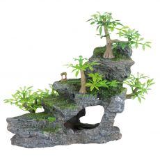 Aquarium Dekoration - Felstreppe mit Pflanzen