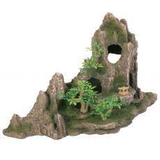 Aquarium Dekoration - Fels mit Höhle und Bäumen