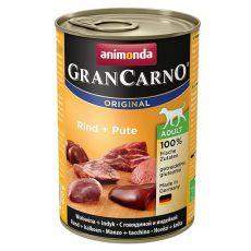 Dose GranCarno Fleisch Adult Rind + Pute - 400 g