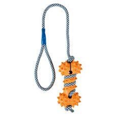 Spielzeug für Hunde - Gummiknochen am Seil