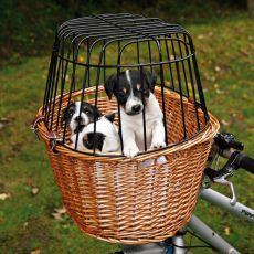 Hundekorb fürs Fahrrad mit Gitter 44 x 48 x 33 cm