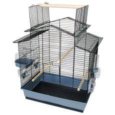 Käfig für Papageien IZA III - schwarz - 58,5 x 38 x 65 cm