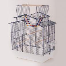 Käfig für Papageien IZA III - KOBALT - 58,5 x 38,5 x 65 cm