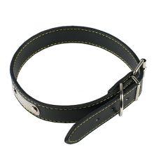 Hundehalsband aus Leder - schwarz, 40 cm