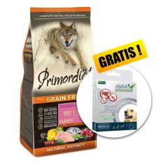Primordial GF Puppy Chicken & Seafish 12kg + GESCHENK