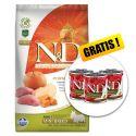 Farmina N&D dog GF PUMPKIN adult mini, boar & apple - 7kg + GESCHENK