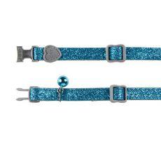 Halsband für Katzen, blaue Flimmern - 18 - 30 cm