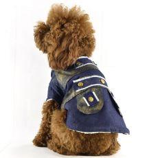 Jeansjacke für Hunde mit Futter, M